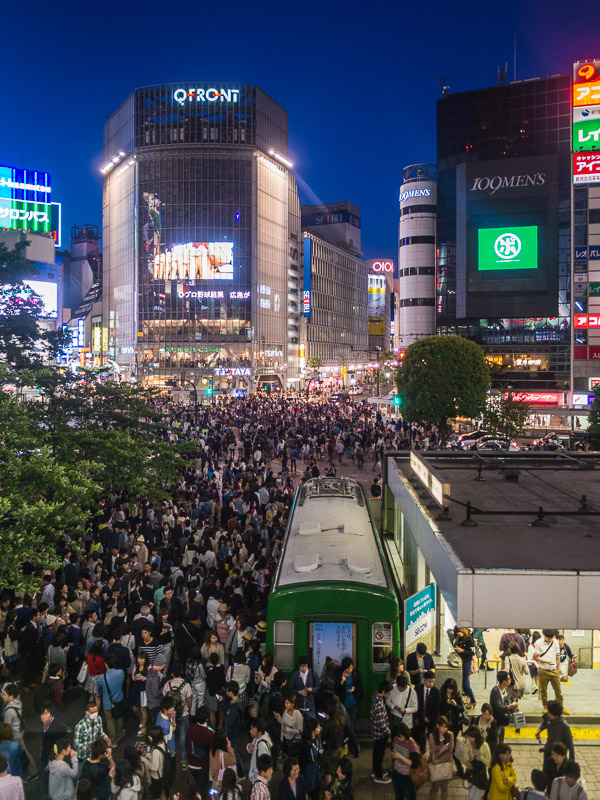 Shibuya Station and Shibuya Crossing
