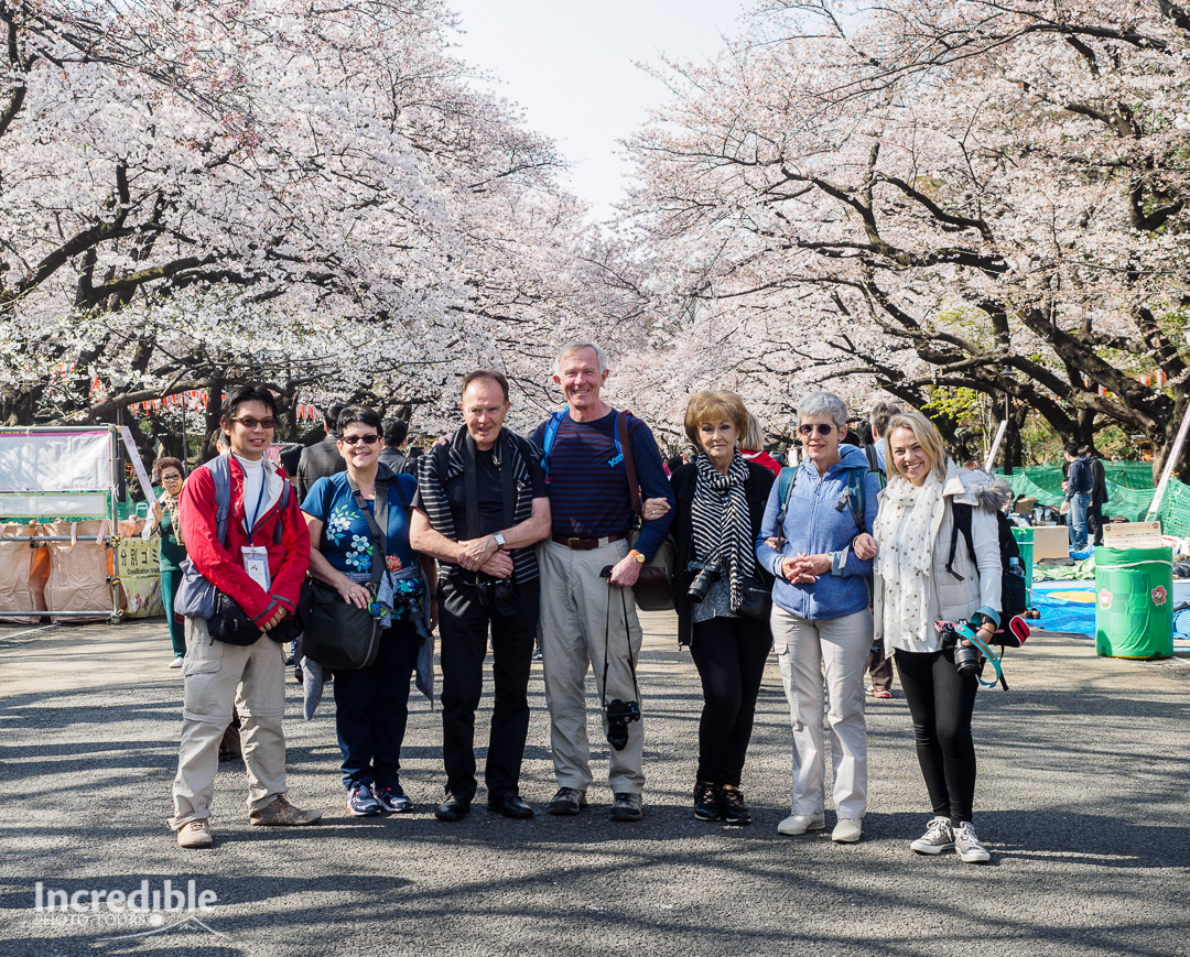 The team at Ueno Park