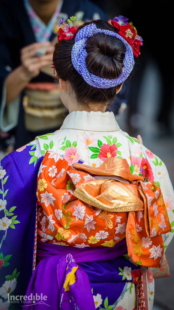 Young girl at Shichi-Go-San Festival, Meiji Shrine